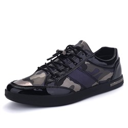 Casual Camouflage Elastic Band Men's Sneakers