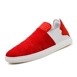 Shoespie Color Block Slip-On Men's Sneakers