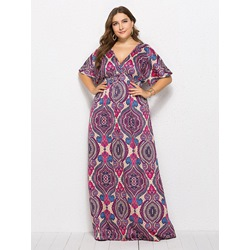 Shoespie Floral Backless Ethnic Women's Maxi Dress