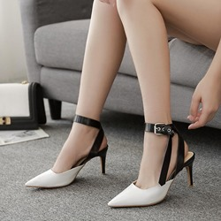 Casual Closed Toe Ankle Strap Stiletto Heels