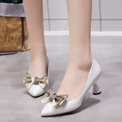 Bow Slip-On Pointed Toe High Heels