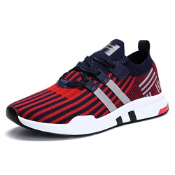 Stripe Lace-Up Casual Men's Sneakers