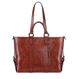 Shoespie Casual Leather Rectangle Belt Decorated Shoulder Bag