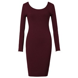 Shoespie Plain Pullover Casual Women's Bodycon Dress