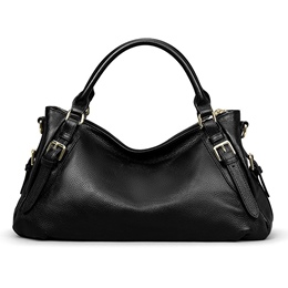 Shoespie Leather Half Moon Zipper Women Handbag