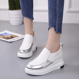 Shoespie Casual Slip-On Wedge Sneakers