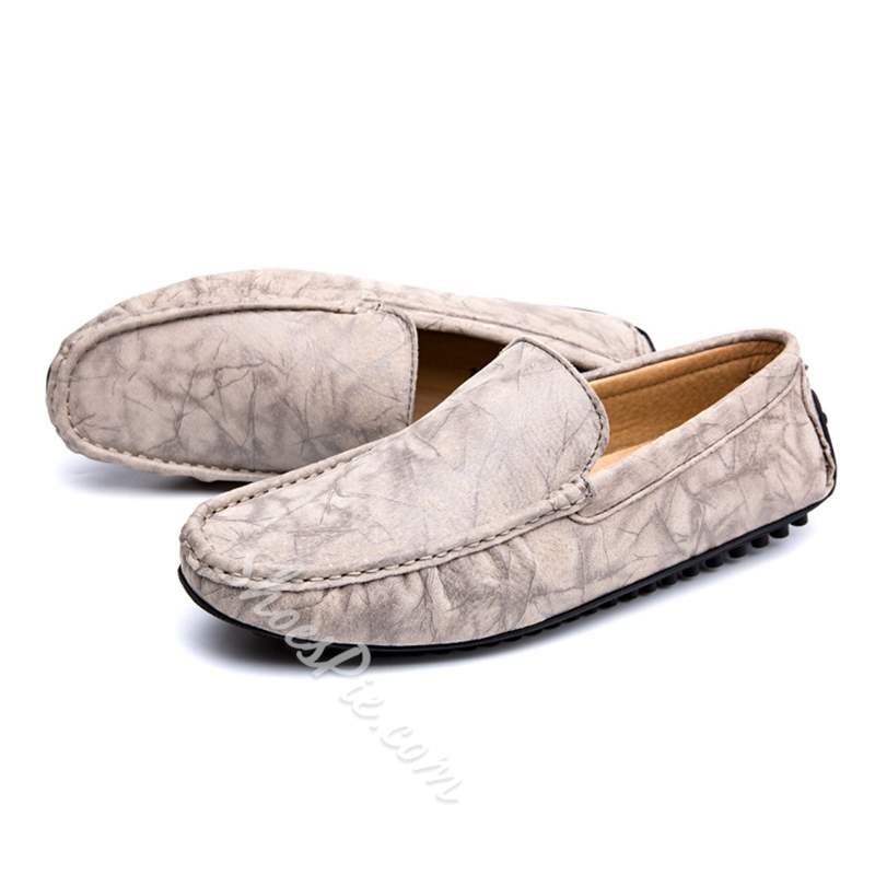Shoespie Casual Flat Slip-On PU Men's Loafers