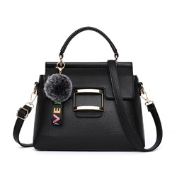Shoespie PU Color Block Flap Tote Bags