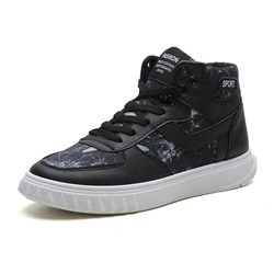Shoespie PU High-Cut Upper Lace-Up Men's Sneakers
