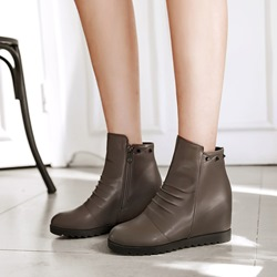 Shoespie Casual Rivet Hidden Elevator Heel Ankle Boots