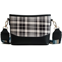 Shoespie PU Plaid Thread Rectangle Crossbody Bags
