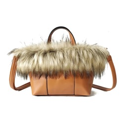 Shoespie Casual Faux Fur Soft Women Handbag