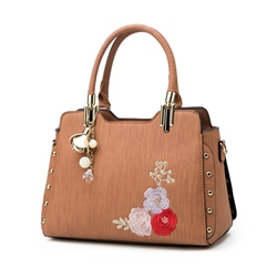 Shoespie Floral PU Thread Hobos Tote Bags