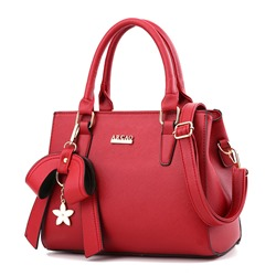 Shoespie Plain Bowtie Zipper Women Tote Bag