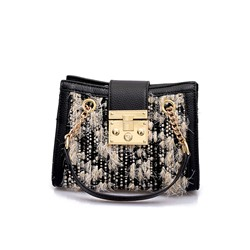 Shoespie PU Lock Rectangle Crossbody Bags