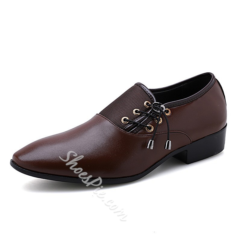 Shoespie Elastic Low-Cut Men's Dress Shoes