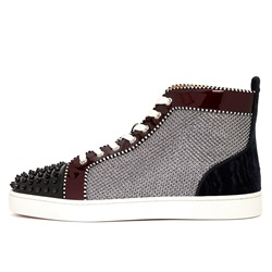 Shoespie Mesh Rivet Patchwork High-Cut Men's Sneakers