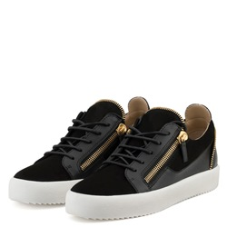Shoespie Black Casual Zipper Casual Men's Sneakers