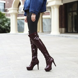 Shoespie Sexy Platform Stiletto Heel Thigh High Boots