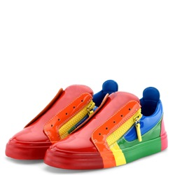 Shoespie Color Block Low-Cut Zipper Men's Sneakers
