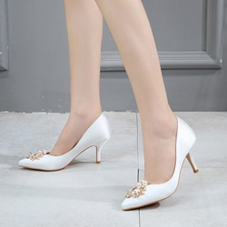 Shoespie Plain Rhinestone wedding Stiletto Heels
