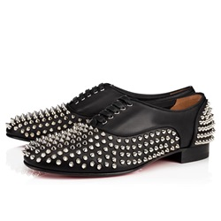 Shoespie Casual Black Rivet Lace-Up Men's Loafers