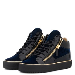 Shoespie Blue High-Cut Lace-Up Men's Sneakers