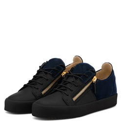 Shoespie Casual Black Zipper Patchwork Men's Sneakers