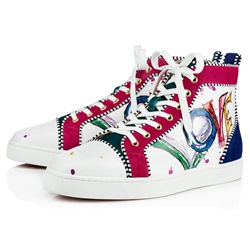 Shoespie PU Print Lace-Up High-Cut Men's Sneakers