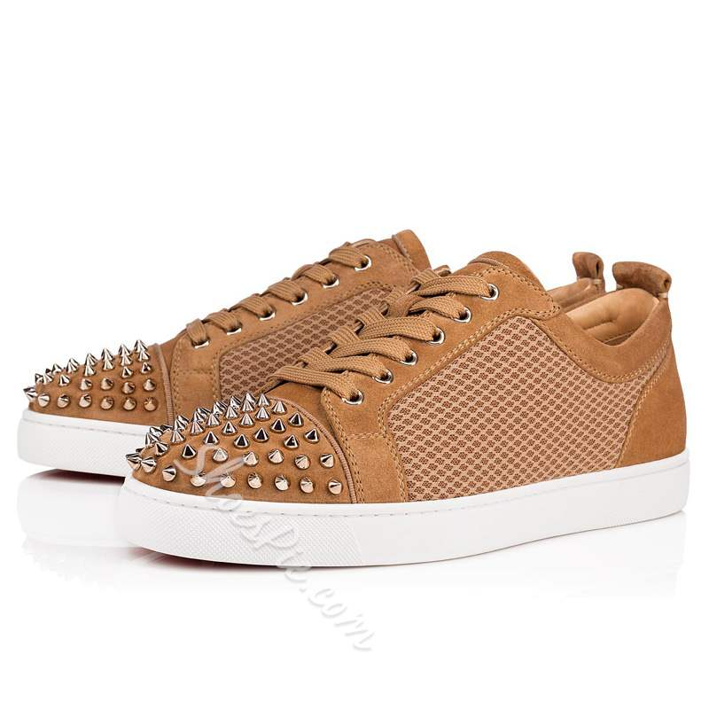 Shoespie Suede Rivet Lace-Up Men's Sneakers