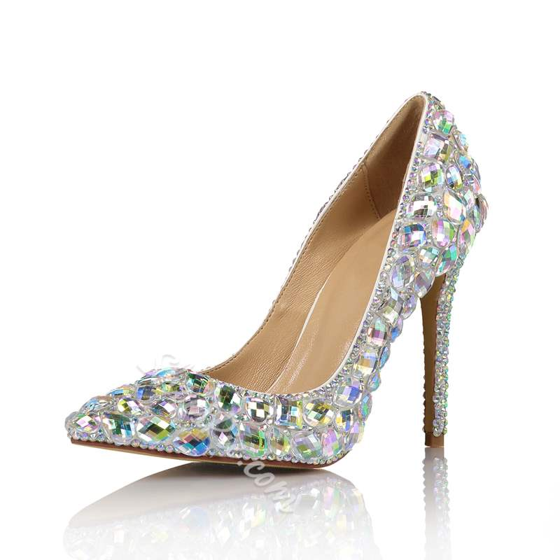 Shoespie Luxurious Rhinestone Stiletto Heel Wedding Shoes