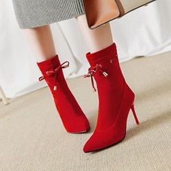 Shoespie Casual Lace-Up Stiletto Heel Ankle Boots