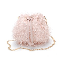 Shoespie Plain Thread Barrel-Shaped Crossbody Bags