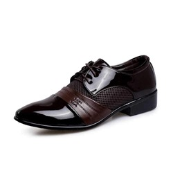 Shoespie Mesh Lace-Up Men's Dress Shoes
