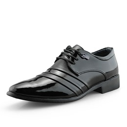 Shoespie Black Lace-Up Men's Dress Shoes