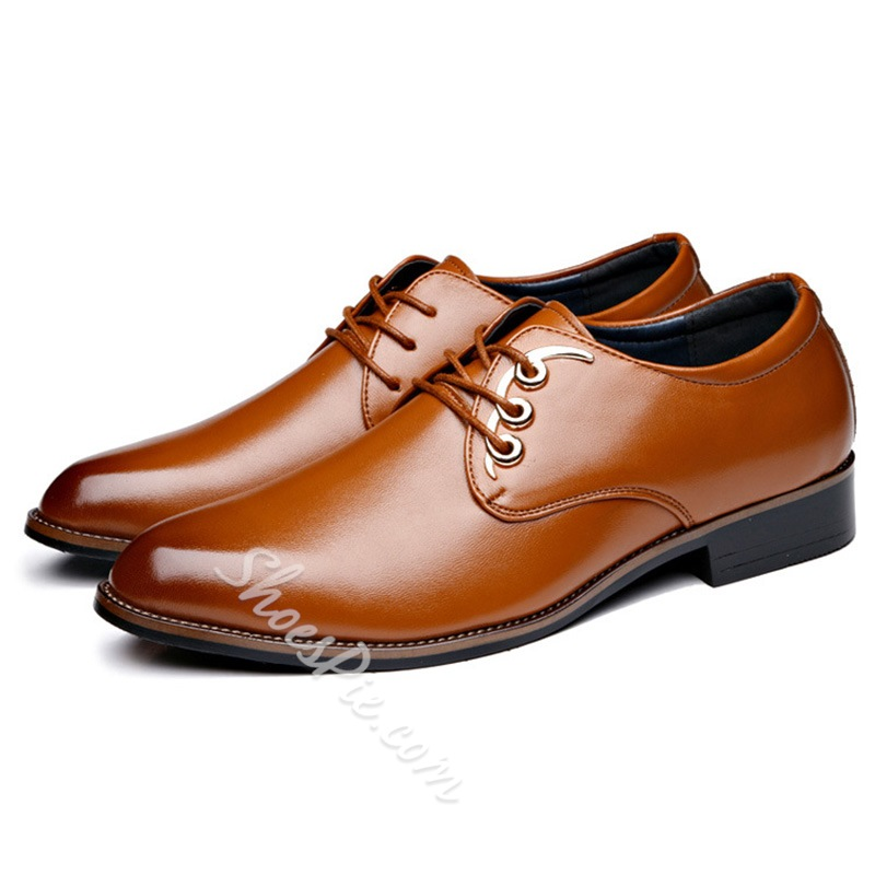 Shoespie Lace-Up Low-Cut Men's Dress Shoes