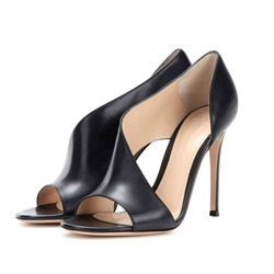 Shoespie Slip-On Open Toe Stiletto Heel Dress Sandals