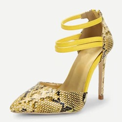 Shoespie Serpentine Zipper Stiletto Heel Stiletto Heels