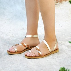 Shoespie Casual Toe Ring Slip-On Flat Sandals
