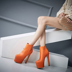 Shoespie Platform Side Zipper High Heel Ankle Boots