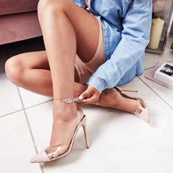 Shoespie Ankle Strap Line-Style Buckle Stiletto Heels