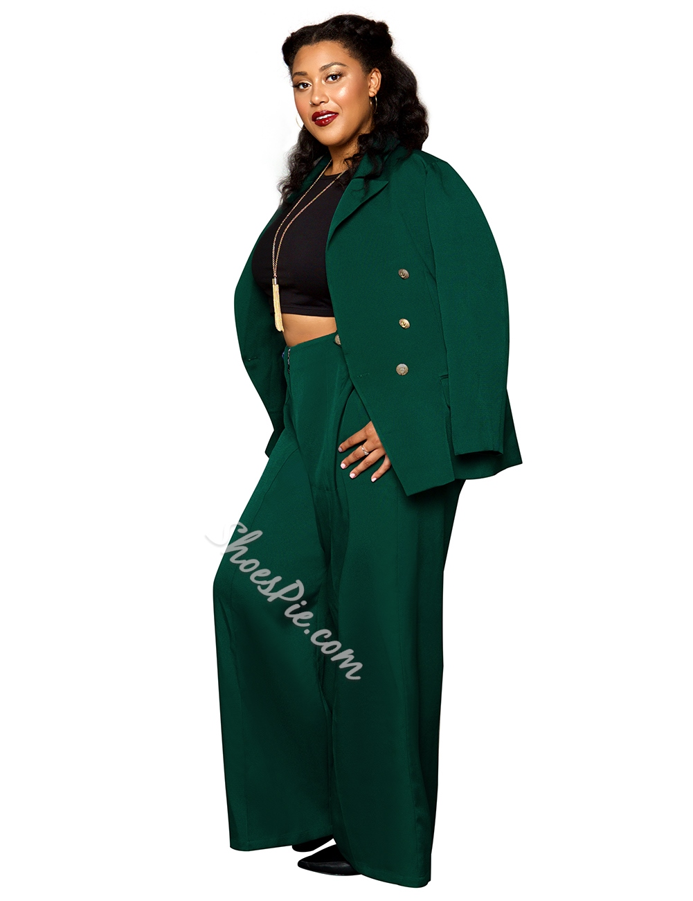 Stylish Plus Size Notched Lapel Long Sleeve Women's Casual Blazer