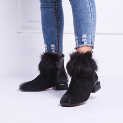 Shoespie Casual Black Patchwork Flat Ankle Boots