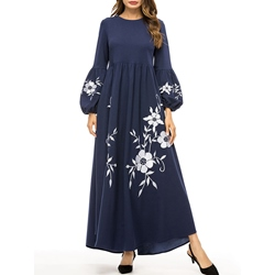 Embroidery Floral Women's Maxi Dress