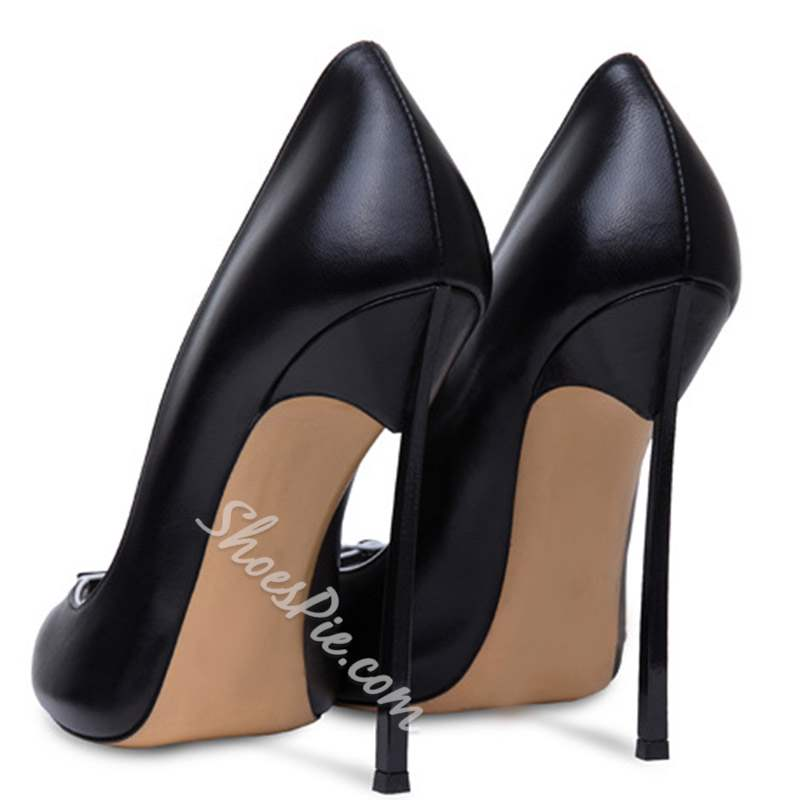Shoespie Buckle Slip-On Peep Toe Stiletto Heels