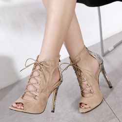 Shoespie Casual Cross Strap Peep Toe Stiletto Heels