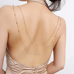 Concise Beading Decorated Body Chain