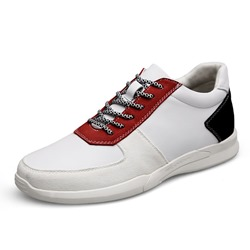 Shoespie Mesh White Lace Up Men's Sneakers