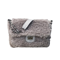 Shoespie Plain Lock Rectangle Crossbody Bags