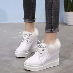 Shoespie Platform Lace Up Purfle Casual Sneakers